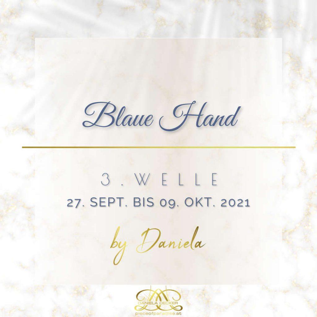 Portaltage Oktober 2021   Blaue Hand